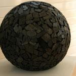 Kugel Holz schwarz