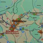Weilmünster - Stadtplan direkt am SP