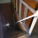 階段手すり白