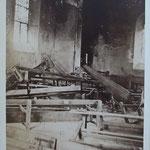 intérieur vu de droite après l'incendie en 1882 (archives départementales du Puy de Dôme)