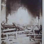 intérieur vu de face après l'incendie en 1882 (archives départementales du Puy de Dôme)