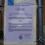 L'arrêté municipal de fermeture en 2011