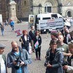 Drehpause vor der Bürgerschaft in Bremen