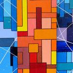 'Holiday' - 40x100 cm  - tecnica mista su tela