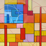 'Happy Island 2' - 50x50 cm  - tecnica mista su tela