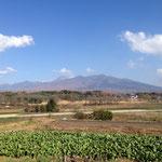 富士見駅側から望む八ヶ岳