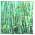 Herbes 1 80 x 80 cm acryl sur toile
