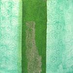structures vertes 2  30 x 30 cm acryl sur toile