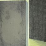 passage 1 100 x 100cm acryl et cendres sur toile