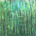 Herbes 2 80 x 80 cm acryl sur toile