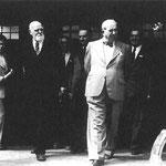 Bundespräsident Dr. Theodor Körner bei der Eröffnung der Ausstellung im Jahre 1951