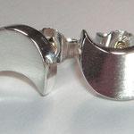 Ohrstecker OHZ030a, Silber (konkav)