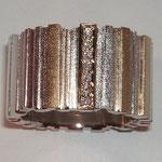 Ring RLi 010, Silber, 750 Gelbgold mit 7 kl. Brillanten