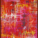 ArtOne Cross Over Tags Blood 2013 120x180x3cm