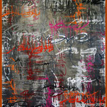 ArtOne Writing Tags Cross Over Grey 2012 140x160cm