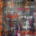 ArtOne Writing Tags Cross Over Grey 2012 140x160cm