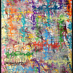 ArtOne Writing Tags Cross Over Colorful 2013   100x200cm