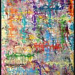 ArtOne Writing Tags Cross Over Colorful 2013   100x200cm