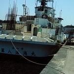 高知県の漁船が停泊(マグロ漁でしょうか?)