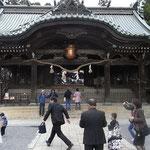 筑波山神社、ちょうど七五三で賑わっていた