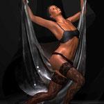 Tanz mit Tüchern 1, digitale kunst auf der Aachener Kunstroute in derGalerie und auf der Ausstellung spektrum in der Aula carolina