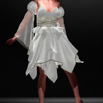 Verspieltes Kleid rot, digitale Kunst auf der Aachener Kunstroute 2016