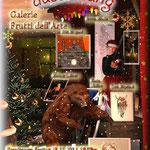Aachener Weihnachtsmarkt in der Galerie Frutti dell'Arte in der Viktoriastrasse 24, Plakat