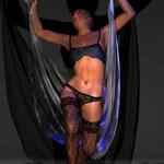 Tanz mit Tüchern 2, digitale kunst auf der Aachener Kunstroute in derGalerie und auf der Ausstellung spektrum in der Aula carolina