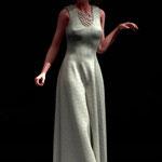 Kleid Josefine beige. Mode digital auf der Aachener Kunstroute 2016.
