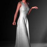 Kleid Josefine weiß. Mode digital auf der Aachener Kunstroute 2016.