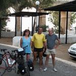 11.11. Verabschiedung von Johanna aus München und Jan aus Holland, Johanna fuhr 13000 km durch Europa und hat Jan am Nordkap kennengelernt