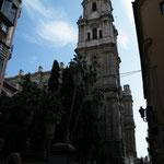 13.10. Vor der Kathedrale von Malaga