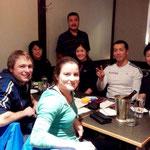 Japanisches Dinner in Calgary, yammi yammi :-)