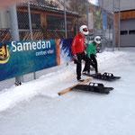 SM St.Moritz; Starttraining Samedan mit Sybille und Urs