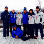 Team Skeleton Suisse mit Kooperations Nation Japan