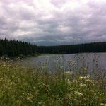 Imposante Wolken über dem Hirschler Teich