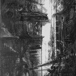 Junglecage (75 x 180 cm; charcoal on paper; varnish) AVAILABLE
