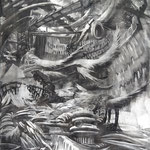 Sprucie (100 x 220 cm; charcoal on mdf; fixative) AVAILABLE