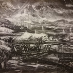 Broken ship (60 x 40 cm; charcoal on paper; fixative) AVAILABLE