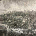 The Ring (60 x 30 cm; charcoal on mdf; varnish) AVAILABLE