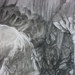 Knot (60 x 110 cm; charcoal on mdf; fixative) AVAILABLE