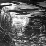 Safti (126 x 78 cm; charcoal on paper; fixative) SOLD