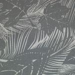 Blätter grau in Leinenoptik