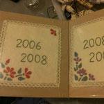 Copertine album fotografici ricamati con decorazioni in feltro e pizzo