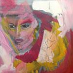 people in pink  II - Acryl - 50 x 50