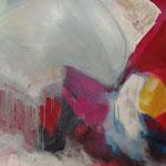 flying elephant - Acryl mit Collage, Sand und Graphit - 160 x 60