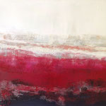 voyage tricolore - Acryl mit Sand - 100 x 140 x 10
