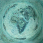 one earth - the original - Acryl mit Patina auf Leinwand - 100 x 100