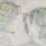 one earth - Stell Dich in den Sturm... - Acryl mit Graphit auf Leinwand - 100 x 120 x 4