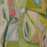 Mit Patchwork in den Frühling - Acryl und Ölpastell - 100 x 160